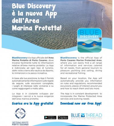 July 26th 2021: Nasce BlueDiscovery, l'App che spiega la riserva Nazionale